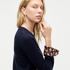 J. Crew tippi sweater with leopard French cuffs